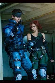 MGS - Snake and Meryl cosplay