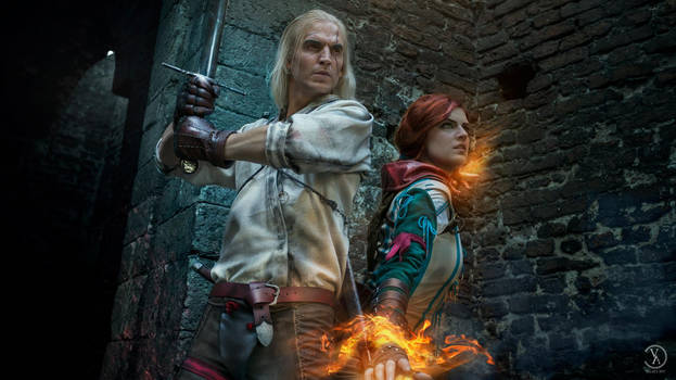 The Witcher - Geralt and Triss cosplay costumes