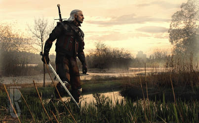 The Witcher 3 - Geralt in Velen marshes cosplay