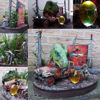 Jurassic Park diorama