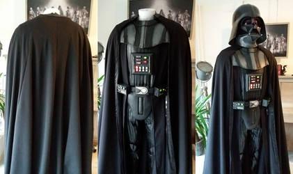 Darth Vader cape progress