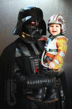 Darth Vader and Baby Luke costumes