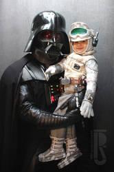 Darth Vader and Toddler Luke costumes