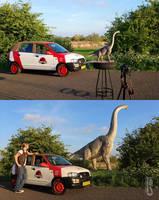 Jurassic Park car edit Mattel Brachiosaurus