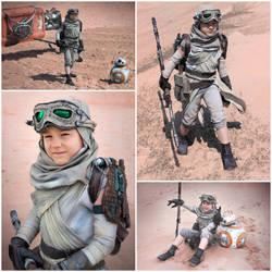 Star Wars - Rey kid cosplay