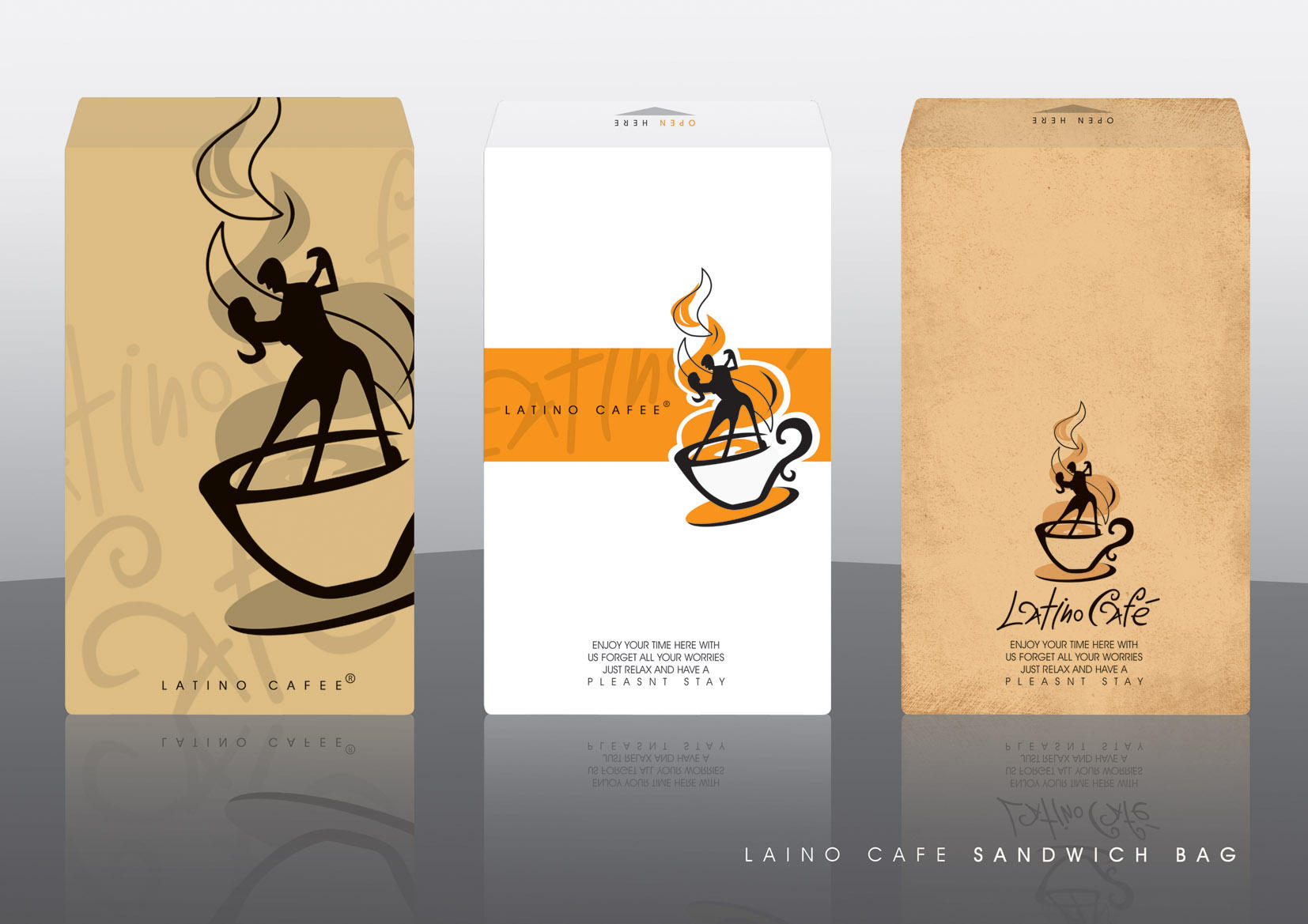 latino cafe sandwich bag by ramywafaa