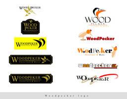 WoodPeker logo trials by ramywafaa