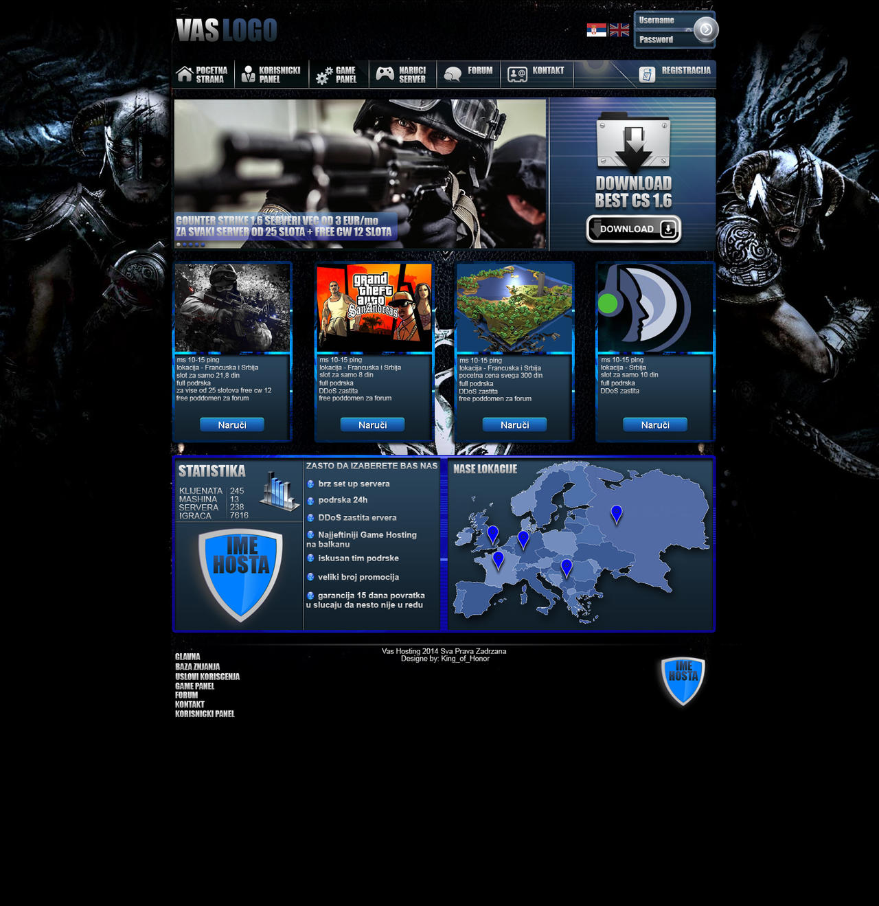 web sajt game hosting template by kingofhonor on deviantart