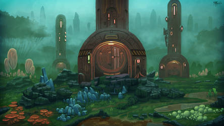 Mercurial vaults in a verdant cold. by UNGDI-SEA