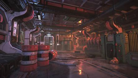 Unity3D Sci-Fi Enviornment by UNGDI-SEA