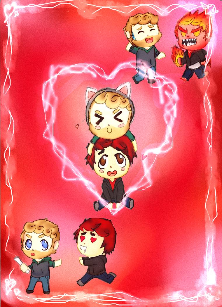 cutesy valentines by knuxfan23