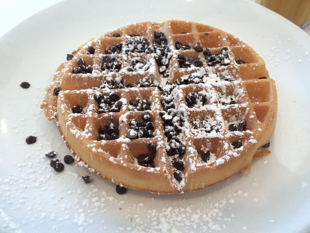 how to make chocolate chip belgian waffles