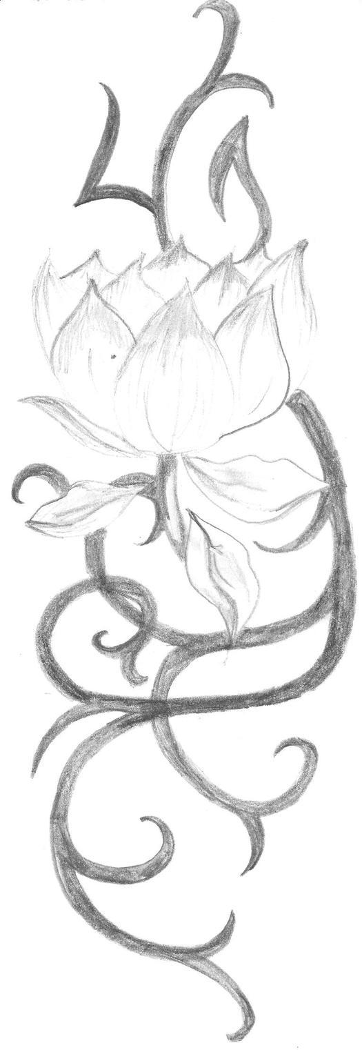 flower tattoo design by emo kitteh on deviantart. Black Bedroom Furniture Sets. Home Design Ideas
