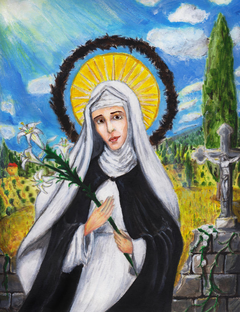 St. Catherine of Siena by Aodhagain