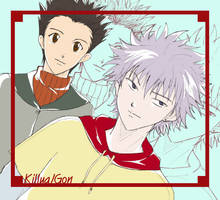 Killua and Gon by conflictX