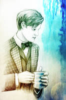 Doctor with tea by nokeek