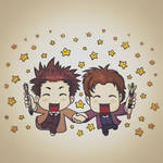 Doctor Who Chibi: Eleven and Ten
