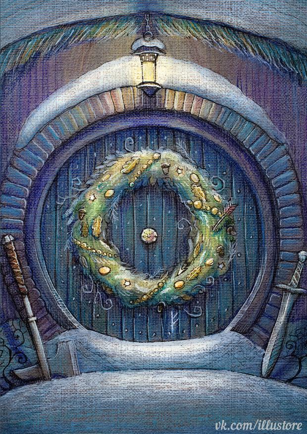 Hobbit Christmas Card by nokeek