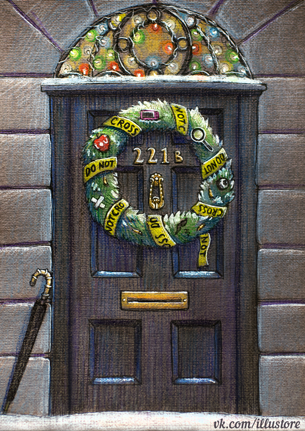 Sherlock Christmas Card by nokeek