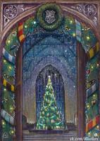Hogwarts Christmas Card by nokeek
