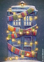 Tardis Christmas Card by nokeek