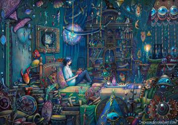 Howl's room by nokeek