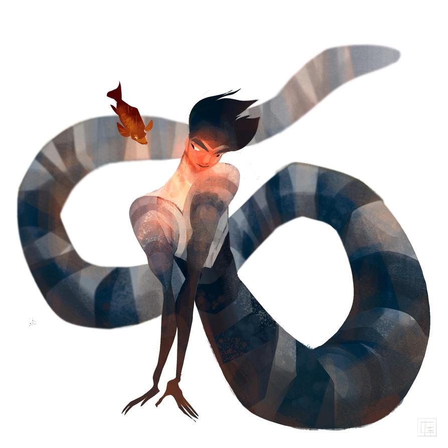 Sunburnt Sea Snake by salamispots