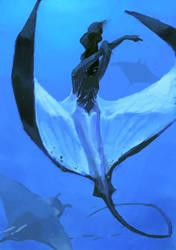 Manta Ray Mermaid by salamispots
