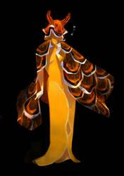 Black and Gold Sapsucking Slug Mermaid by salamispots