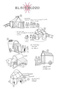 Caravan merchants sketches - Blackblood