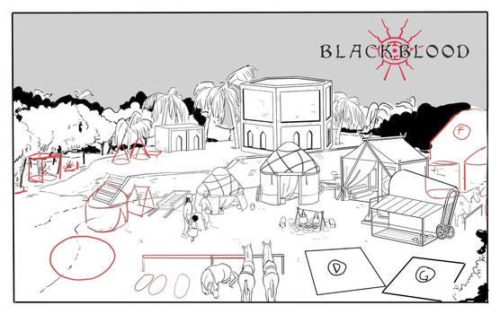 Caravan camp concept - Blackblood