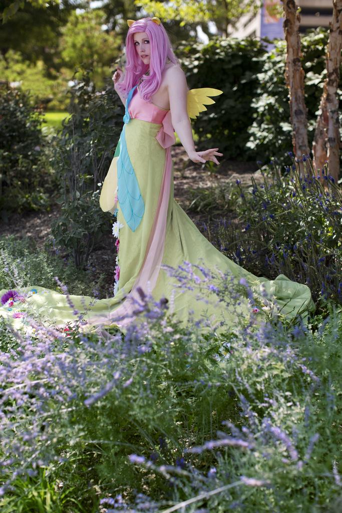 Shaded Fluttershy - Galla dress by koi-ishly
