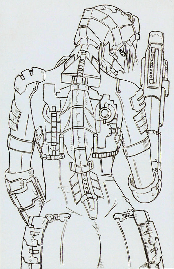Dead Space Sexy Back Pencils by MonkeyTheMan