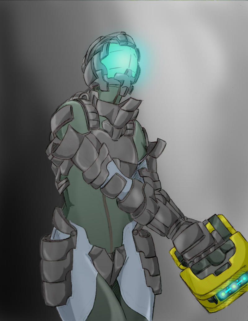 Dead Space Chick on duty... by MonkeyTheMan