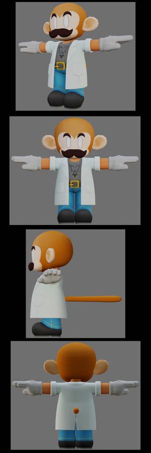3D model avatar work in progress