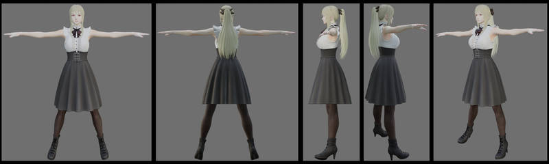3D model Aaricia casual outfit