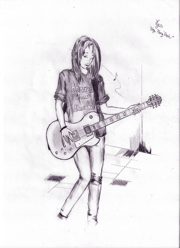 Girl vs guitar by nox 666