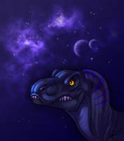 I gots a space dino by A-kija