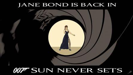 007 Sun Never Sets - Jane Bond Wallpaper by Epe