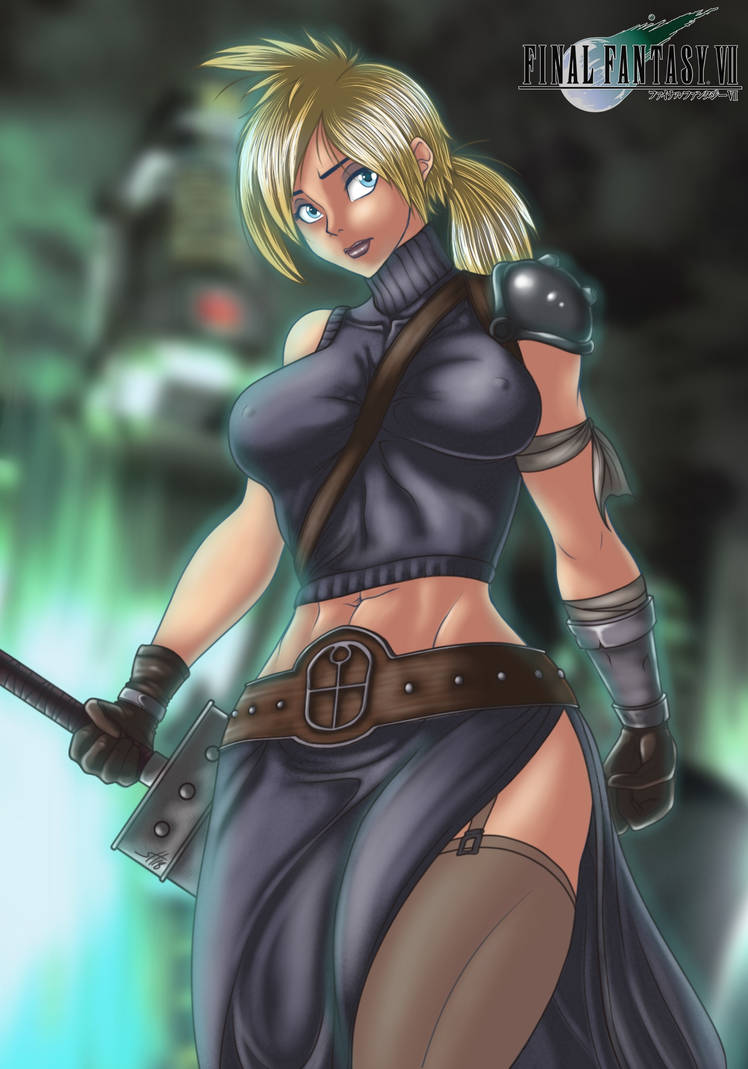 Final Fantasy VII - Cloudia by Epe