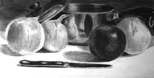 Kitchen Charcoal  by TrebleStroke