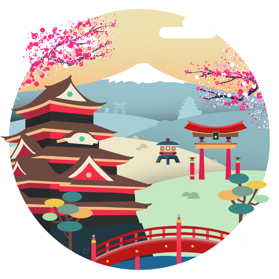 Tokyo Japan Vector Illustration By Cif3r On Deviantart