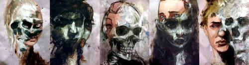 Ghosts by AjamsDraws