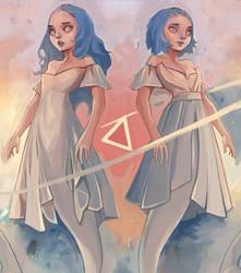 Mermay - Astral Hypotenuse by AjamsDraws