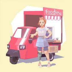 Foodies by AjamsDraws