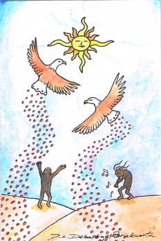 Eagle Dances (colored)