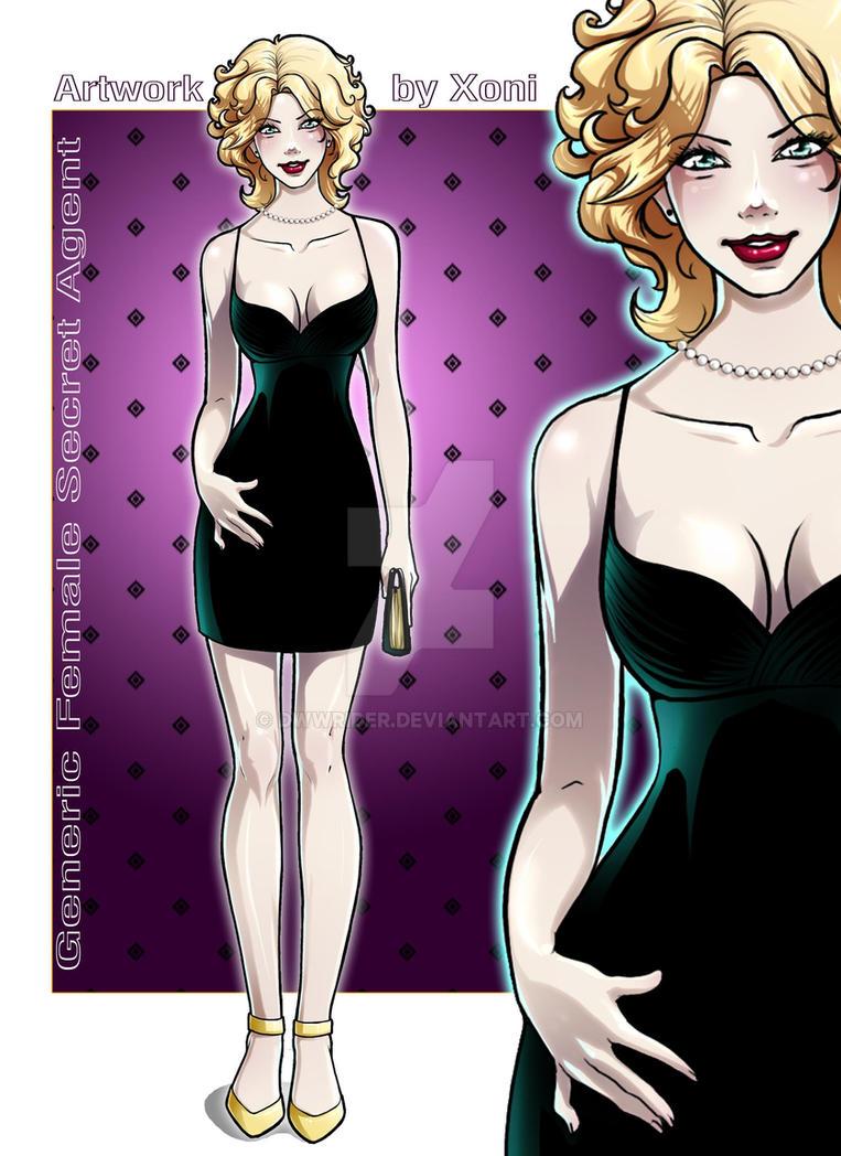 Generic Female Secret Agent by dwwrider