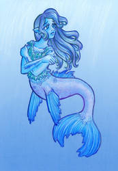 Mermaid in Thought by Mermaid-Kalo