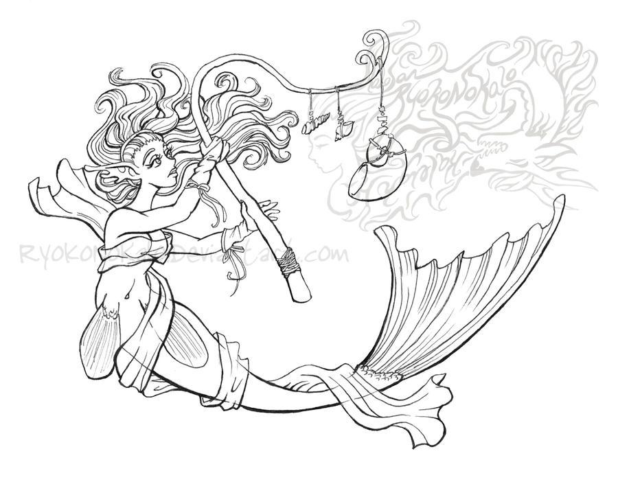 Drawing Lines In Dreamweaver : Dreamweaver mermaid lines by kalo on deviantart