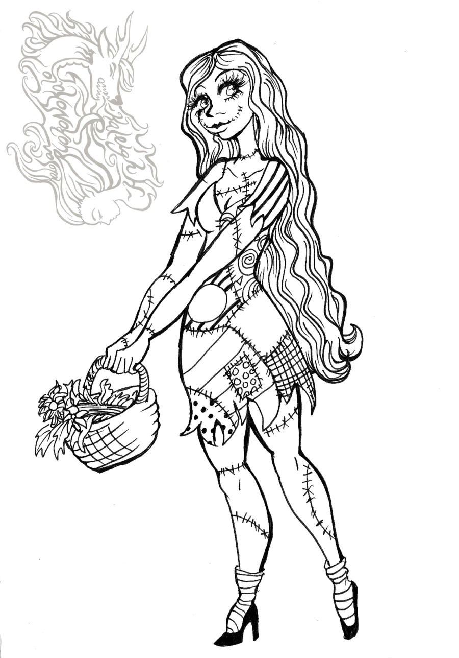 Happy Late Halloween Sally By Mermaid Kalo On Deviantart Zero From Nightmare Before Coloring Pages